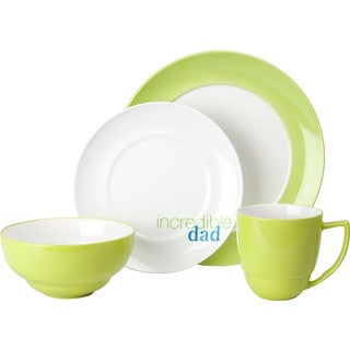 Waechtersbach Uno Mint 'Incredible Dad' 4-Piece Place Setting