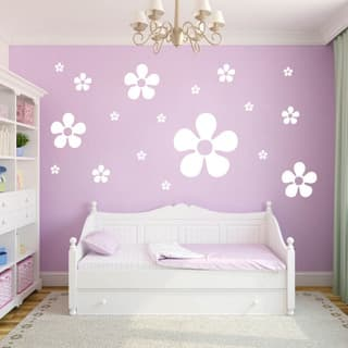 Flowers Wall Decals (Set of 18)