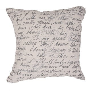 Handmade Arts and Craft Jute Ivory 22-inch Throw Pillow