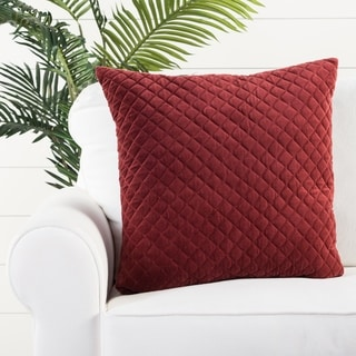Handmade Solid Red 22-inch Throw Pillow