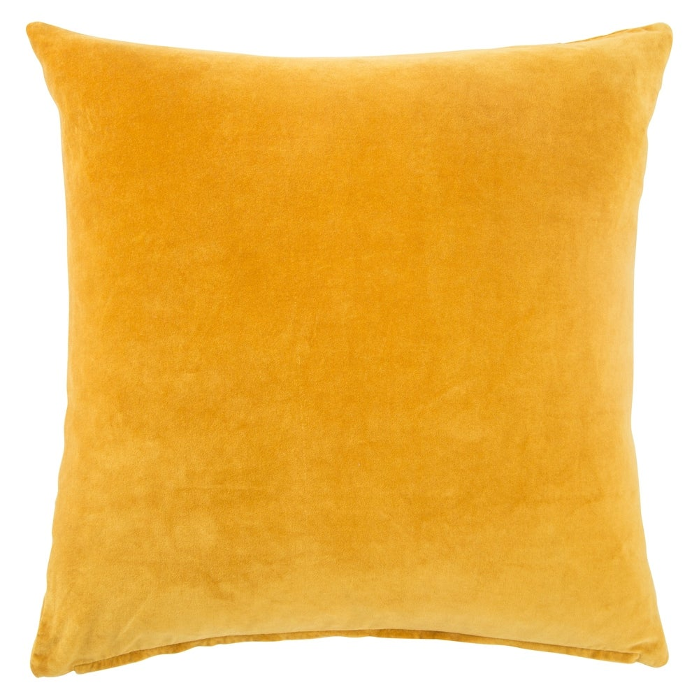 Shop Handmade Solid Yellow 22-inch Throw Pillow - 10071714