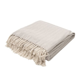 "Handmade Cotton Grey (50""x60"") Throw"