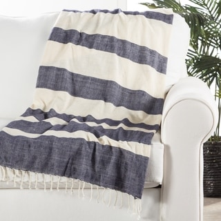 "Handmade Cotton Blue (50""x60"") Throw"