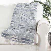 "Handmade Cotton Blue (50""x60"") Throw - 50 x 60"