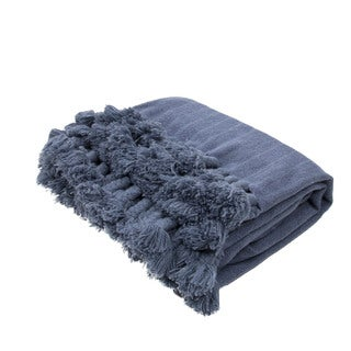 "Handmade Wool Blue (50""x60"") Throw"