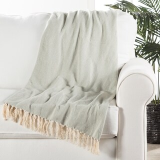 Handmade Cotton Blue Throw