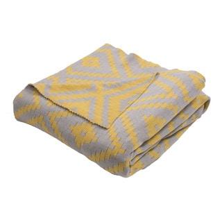 "Handmade Cotton Yellow (50""x60"") Throw"