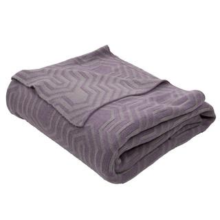 "Handmade Cotton Purple (50""x60"") Throw"