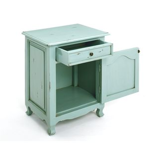 Decorative Imbler Casual Blue Square Accent Table