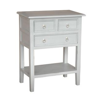 Decorative Kent Casual White Square Accent Table