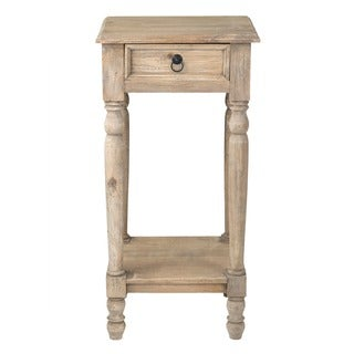 Decorative Lyons Rustic Brown Square Accent Table