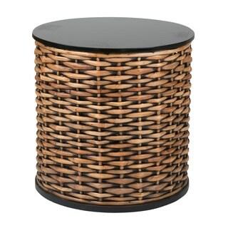 Decorative Hermiston Natural Brown Round Accent Table