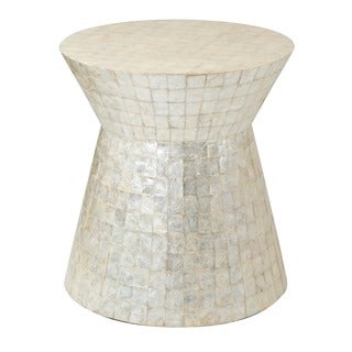 Decorative Selma Modern Off-White Specialty Accent Table