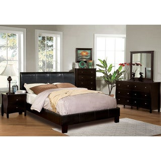 Furniture of America Villazo Espresso 4-piece Bedroom Set