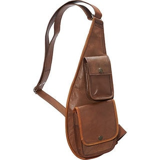 Brown Leather Sling Over Shoulder Bag