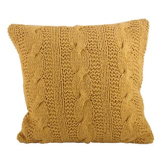 Cable Knit Design Throw Pillow