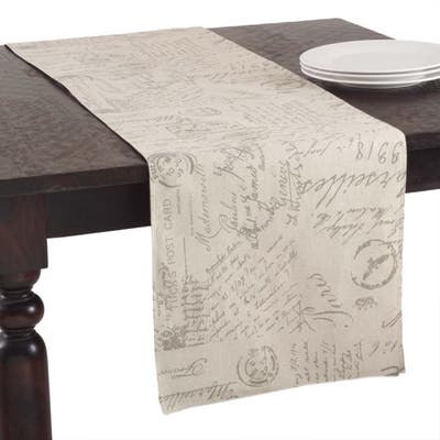 Old Fashioned Script Print Design Table Runner