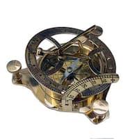 Brass Boxed Sun Dial Compass
