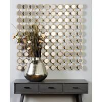 Studio 350 Metal Mirror Wall Panel 39 inches high, 39 inches wide - Silver