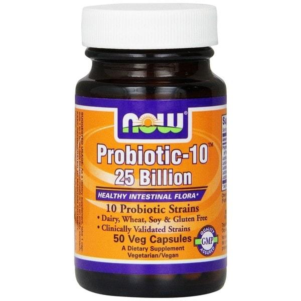 Now Foods Probiotic-10, 25 Billion (50 Veg Capsules)