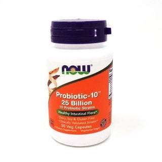 Now Foods Probiotic-10, 25 Billion (50 Veg Capsules)