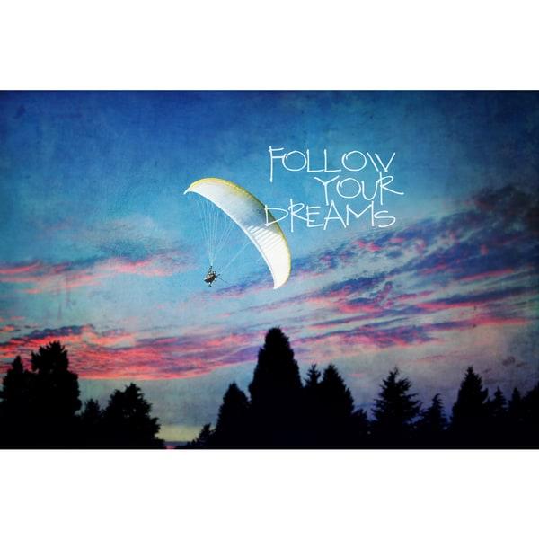 Marmont Hill 'Follow Your Dreams' Canvas Art - Multi-color
