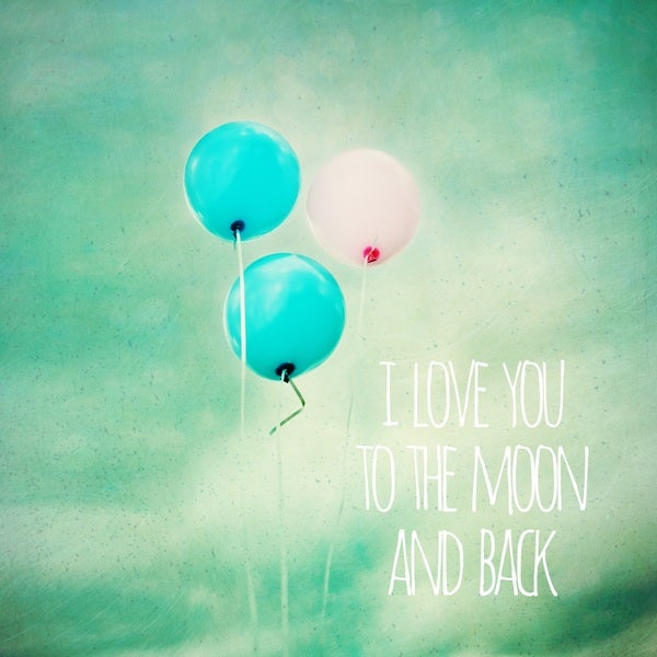 Marmont Hill 'I Love You to the Moon' Canvas Art - Multi-color