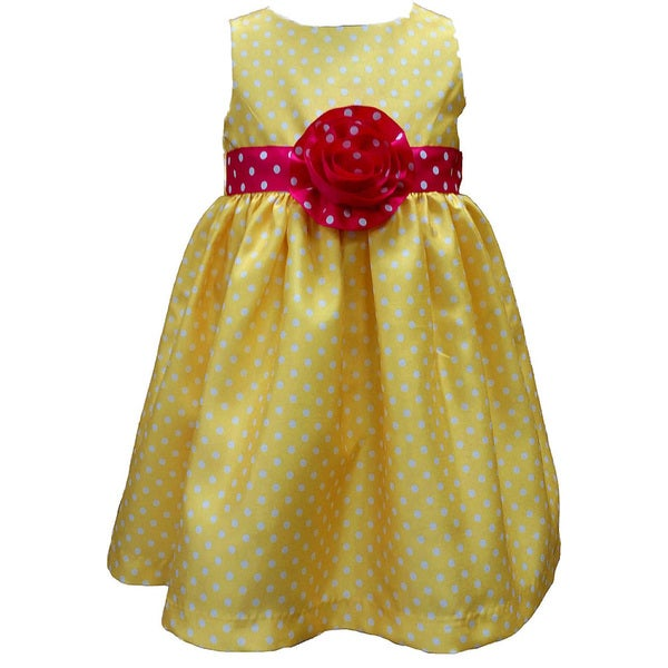 6a6e93662 Shop Mia Juliana Baby Girls' Polka Dot Shantung Dress - Free ...