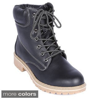Women's Broadway-3 Quilted Opening Ankle-high Combat Boots