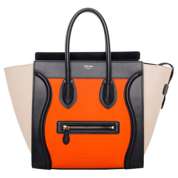 Celine Multicolored Leather Luggage Tote