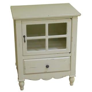 Heather Ann Glass Panel Door, 1-drawer Accent Cabinet