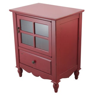 Heather Ann Glass Panel Door, 1-drawer Accent Cabinet