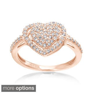 SummerRose 14k Gold 1/3ct TDW Diamond Heart Ring