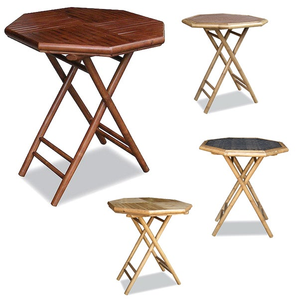 Captivating Heather Ann Bamboo Octagon Folding Table