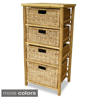 Heather Ann Bamboo 4-drawer Open Frame Cabinet