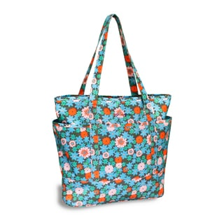 J World New York Emily Blue Blossom Print Tote Bag