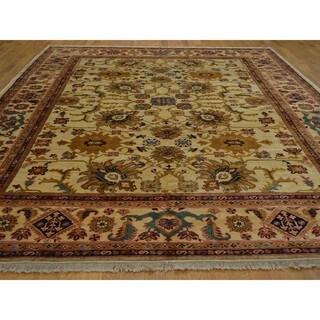 Hand Knotted Oriental Peshawar 100 Percent Wool Rug (8'9 x 12')