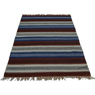 Reversible Hand Woven Oriental Durie Kilim Rug (3' x 5'2)