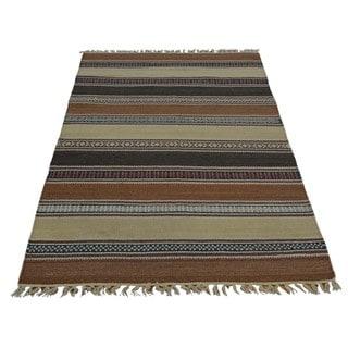 Reversible Oriental Durie Kilim Handmade Rug (3' x 5'1)