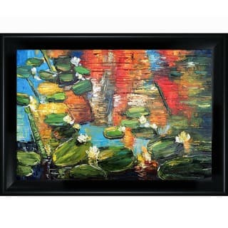 Justyna Kopania Water Lilies Framed Fine Art Print|https://ak1.ostkcdn.com/images/products/10072525/P17216389.jpg?impolicy=medium
