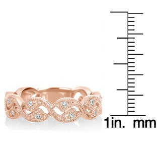 Vintage Diamond Ring Wedding Band 1/6ct TDW in 14k Rose Gold or 14k White Gold by SummerRose (H-I, SI1-SI2)