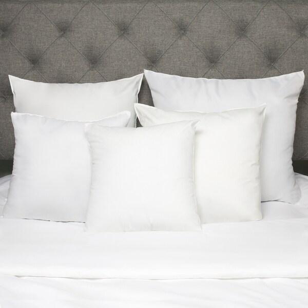 White Down Alternative Euro Square Pillow (Set of 2)