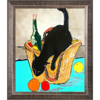 Atelier De Jiel Return From Market with Black Cat Framed Fine Art Print