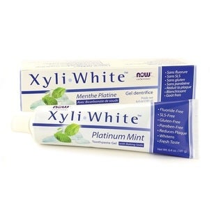 Now Foods Xyli White Platinum Mint Toothpaste Gel with Baking Soda