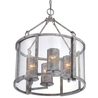 Varaluz Jackson 4-light Chandelier, Antique Silver
