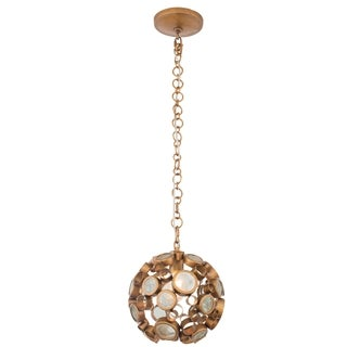 Varaluz Fascination 1-light Orb Pendant, Hammered Ore