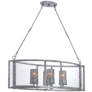 Varaluz Jackson 4-light Linear Pendant, Antique Silver
