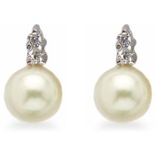 Kabella Sterling Silver Freshwater Pearl Earrings (7 -7.5 mm)