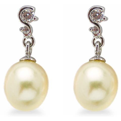 Kabella Sterling Silver Freshwater Pearl Earrings (7.5-8 mm) - White