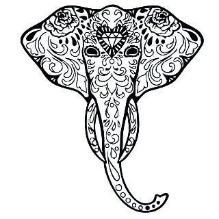 OM Sign Ganesha Elephant Vinyl Wall Art